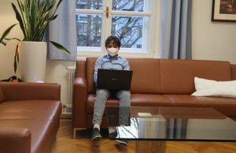 Beim Online-Unterricht :-)